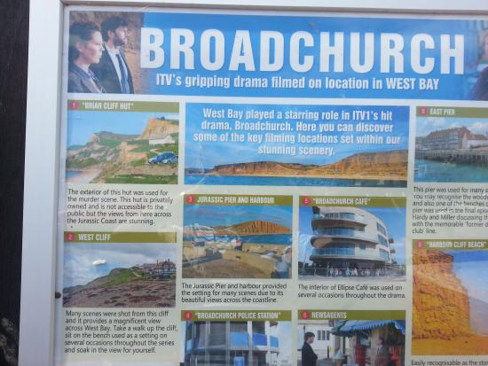 Charmouth, UK: BROADCHURCH Location brochure can be obtained at Tourist Info at Bridport