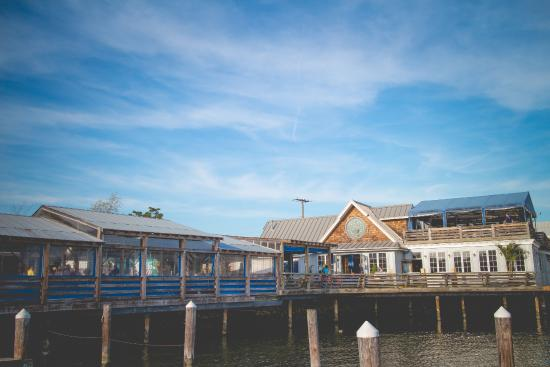 A view of the restaurant from the dock picture of nick 39 s for Nick s fish house baltimore md