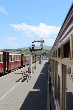 Porthmadog, UK: Arriving At The Station
