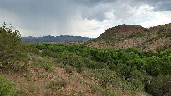 Gila, NM: View from table area right outside out casita