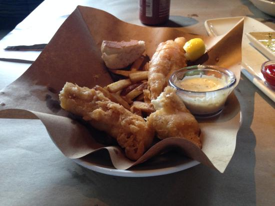 Fish and chips picture of bonefish grill woodbridge for Fish bone grill