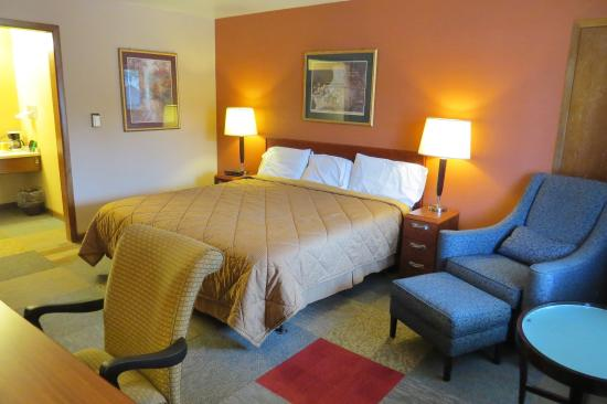 Oskaloosa, IA: One King Bed Guest Room