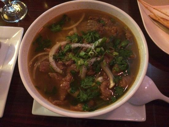 Salad and beef pho picture of rainbow asian cuisine for Asian cuisine and pho