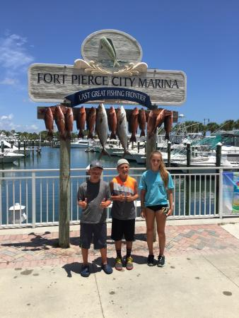 The kids had a great time and they want to do it agian for Deep sea fishing fort pierce
