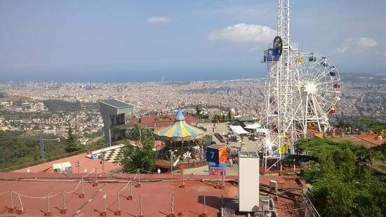 Barcelona Tibidabo Funfair Tibidabo Funfair Photo