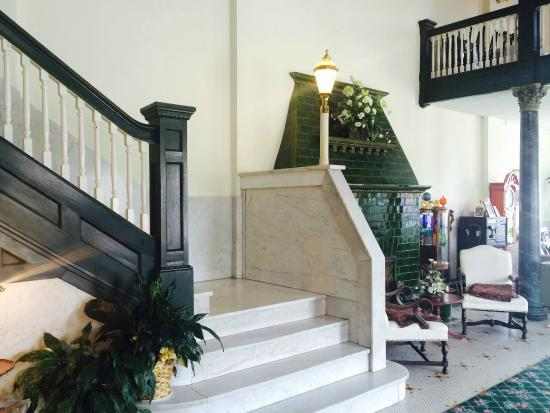 The Lowe Hotel: 1st Floor Marble staircase