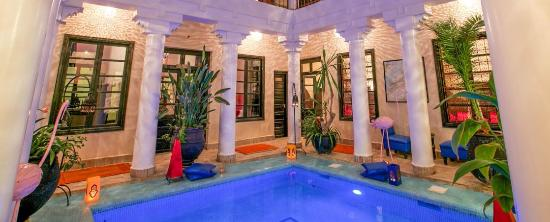 Riad Africa courtyard and pool