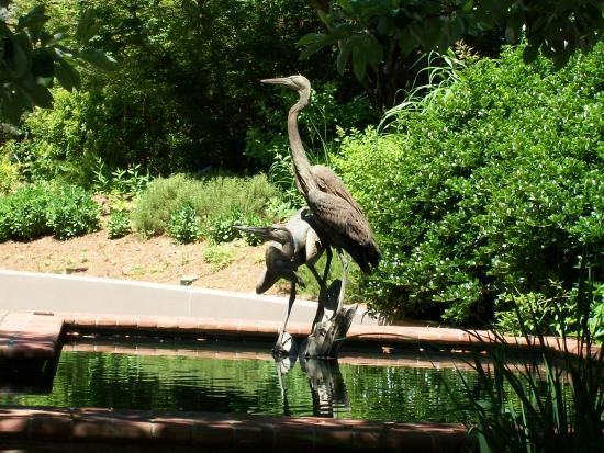 Heron Sculpture On Grounds Picture Of Columbus Botanical
