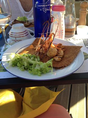 Gironde, France: Galette st jacques gambas