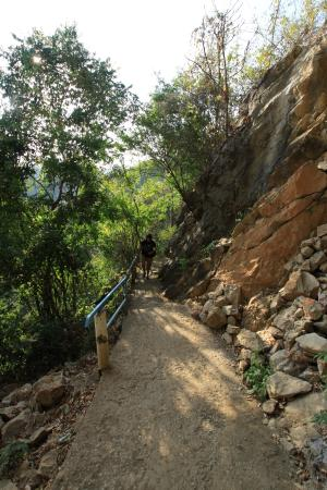 Xieng Khouang, Laos: Tham Piu Cave - path up to the Cave