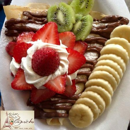 Crepes of Strawberry, banana, White chocolate and Nutella - Picture of ...
