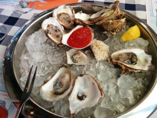 almost finished oysters :) - Picture of The Lobster Trap Restaurant, Woodbridge - TripAdvisor