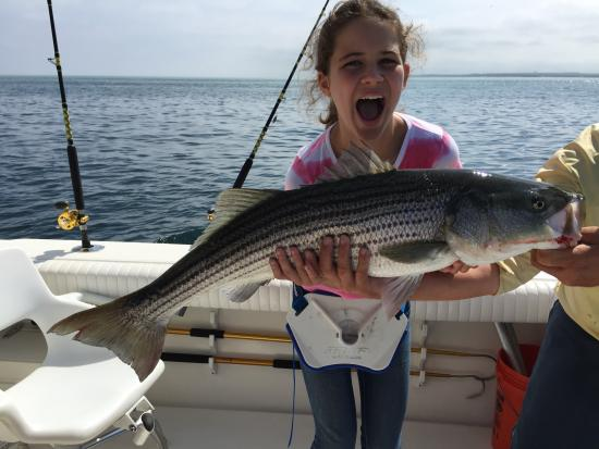 This one 39 s a keeper picture of cape cod family for Cape cod fishing charters