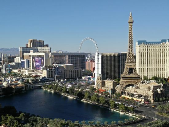 From The Balcony Of 2919 Terrace Suite Fountain View Cosmopolitan Las Vegas Picture Of The
