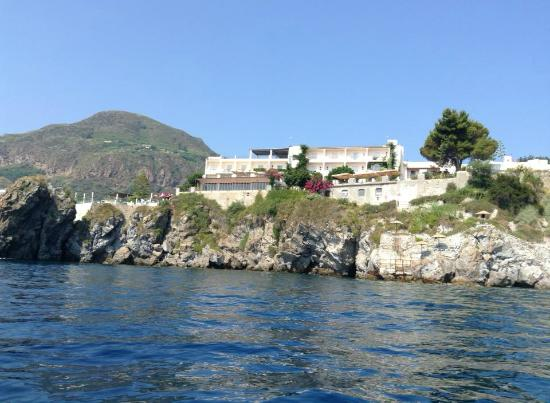 View of hotel from a boat picture of hotel giardino sul - Giardino sul mare lipari ...