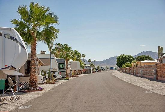 Road Picture Of Foothill Village Rv Resort Yuma