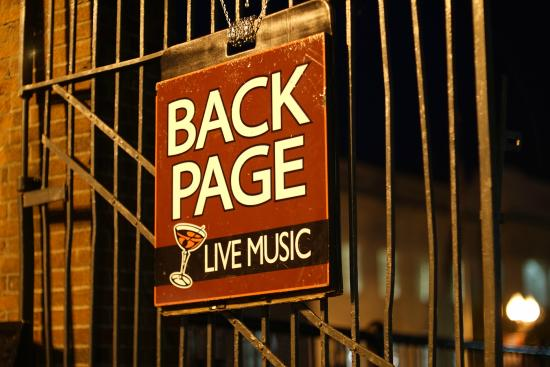 Back Page Jazz and Comedy Club