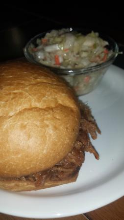 Michigamme, MI: Pulled Pork Sandwich with Coleslaw