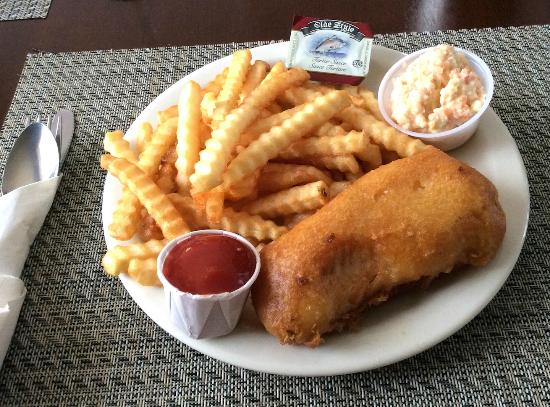 Баддек, Канада: Delicious, fresh haddock in light batter