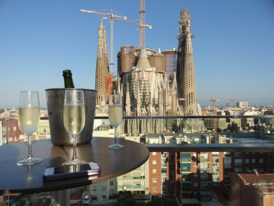 Cheers view from the rooftop bar - Ayre rosellon barcelona ...