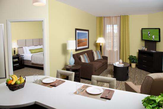 One Bedroom Suite Living Room Picture Of Candlewood Suites Des Moines We