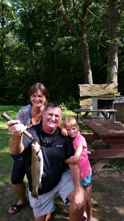 Awesome family time you catch they cook couldn 39 t be better - Trout farming business family mountains ...