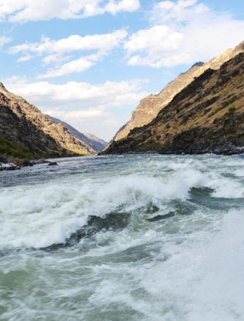 Oxbow, OR: White Water Rapids on the Snake River in Hells Canyon, South Entrance