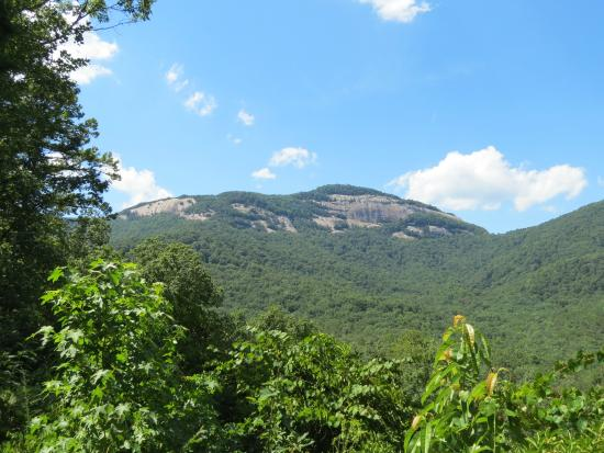View of table rock from the state park for Table rock nc cabins