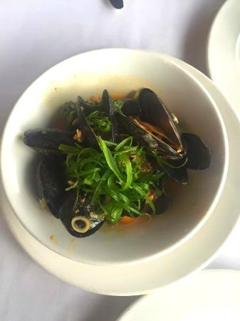 Coconut + Curry Steamed Mussels - Picture of Emeril's Orlando, Orlando ...