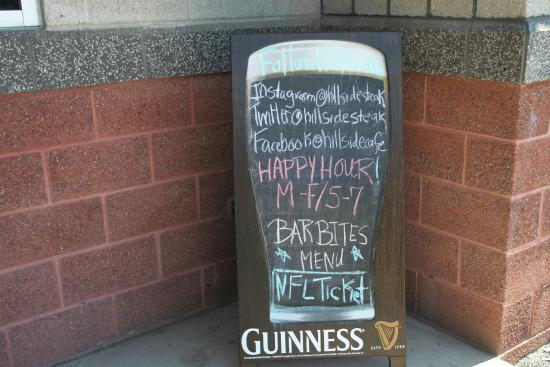 Etters, PA: Chalkboard At The Entrance