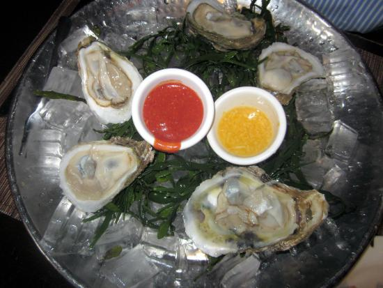 Toscana 52: Oysters Moscato served w/ Citrus Herb Sauce & touch of ...