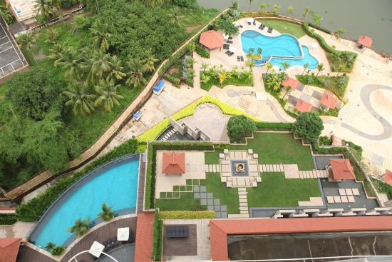 Swimming Pool Aerial View