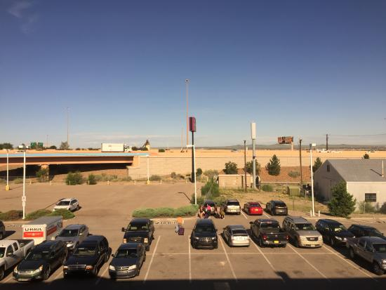 Fairfield Inn Albuquerque University Area: View from room including freeway ramps