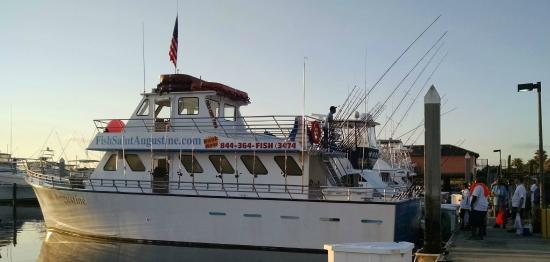 Miss saint augusitne getting ready for deap sea charter for St augustine fishing charter