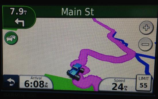 Cobb, CA: Our GPS was Turning in Circles