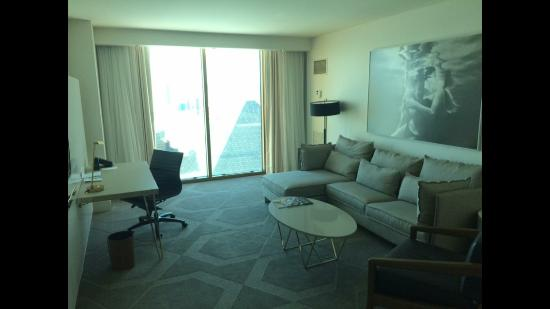 Living room panoramic suite picture of delano las vegas - Delano las vegas two bedroom suite ...