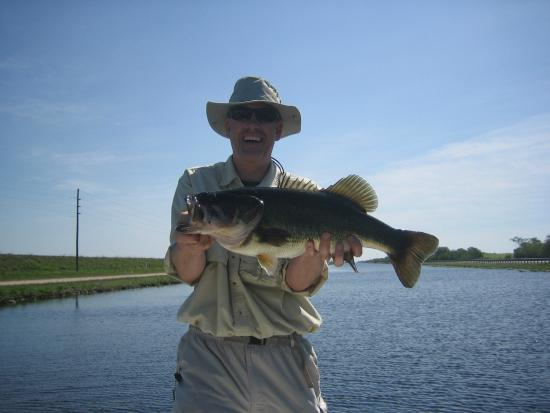 Big bass of the day picture of florida everglades bass for Everglades fishing guide