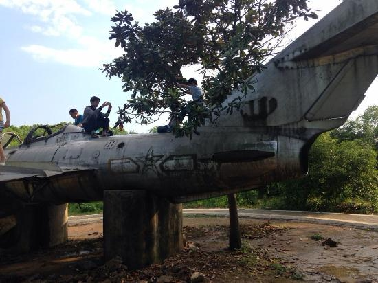 Yongzhou, China: An old plane in the park, near the entrance