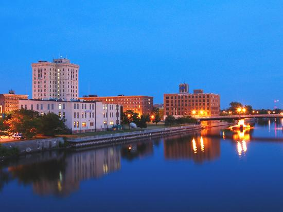 Overlooking the Saginaw River at Dusk