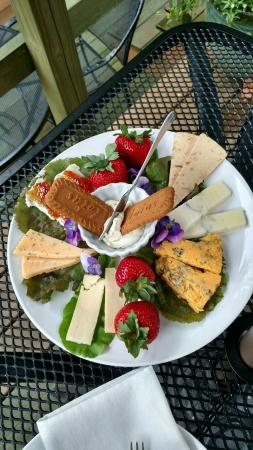 Addison, PA: Cheese plate, also came with bowl of fruit, for extra charge.