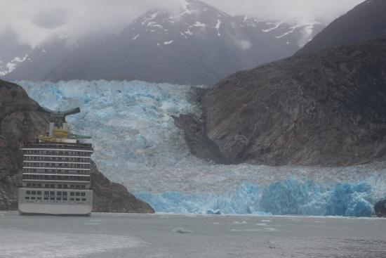 Carnival Legend And The Glacier At Tracy Arm Fjord Picture Of Tracy Arm Fjord Juneau