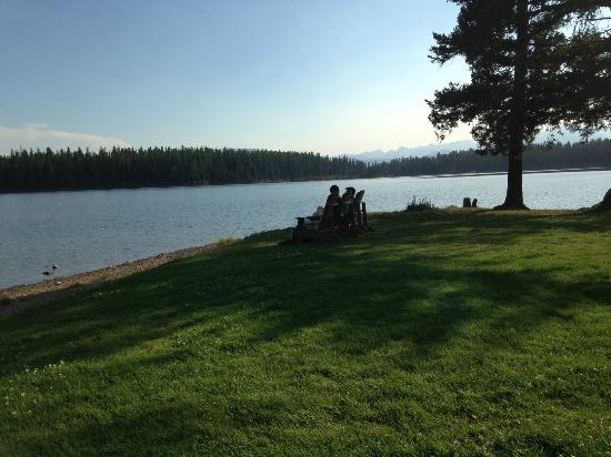 Condon, MT: The front lawn of Holland Lake Lodge