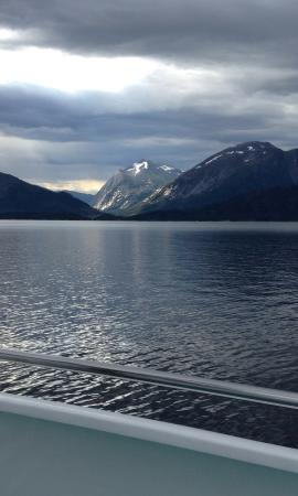 Rosendal, Norway: View from the boat