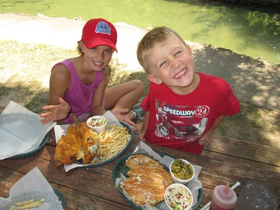 Lunch picture of english mountain trout farm grill sevierville tripadvisor - Trout farming business family mountains ...