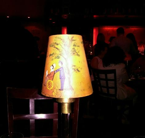 Whimsical lampshade deco for Bemelmans bar mural