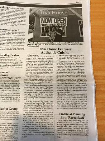 South Glastonbury, CT: The article in Glastonbury Citizen Newspaper