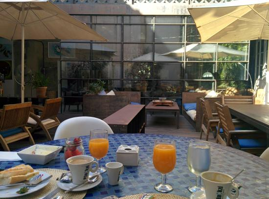 breakfast at the backyard picture of brondo architect hotel palma