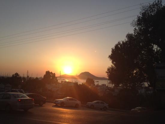 Sandima 37 Hotel Bodrum: View of sunset from the sandima 37