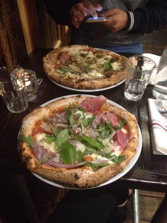 Spinach, egg and taleggio pizza! - Picture of Baffi, Poole ...