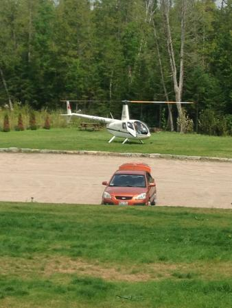 Gilmour, Canada: helicopter for lunch